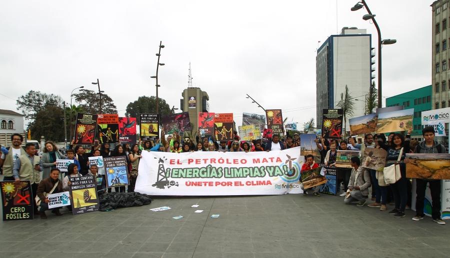 """Lima se sumó a la movilización global """"Únete por el Clima"""""""