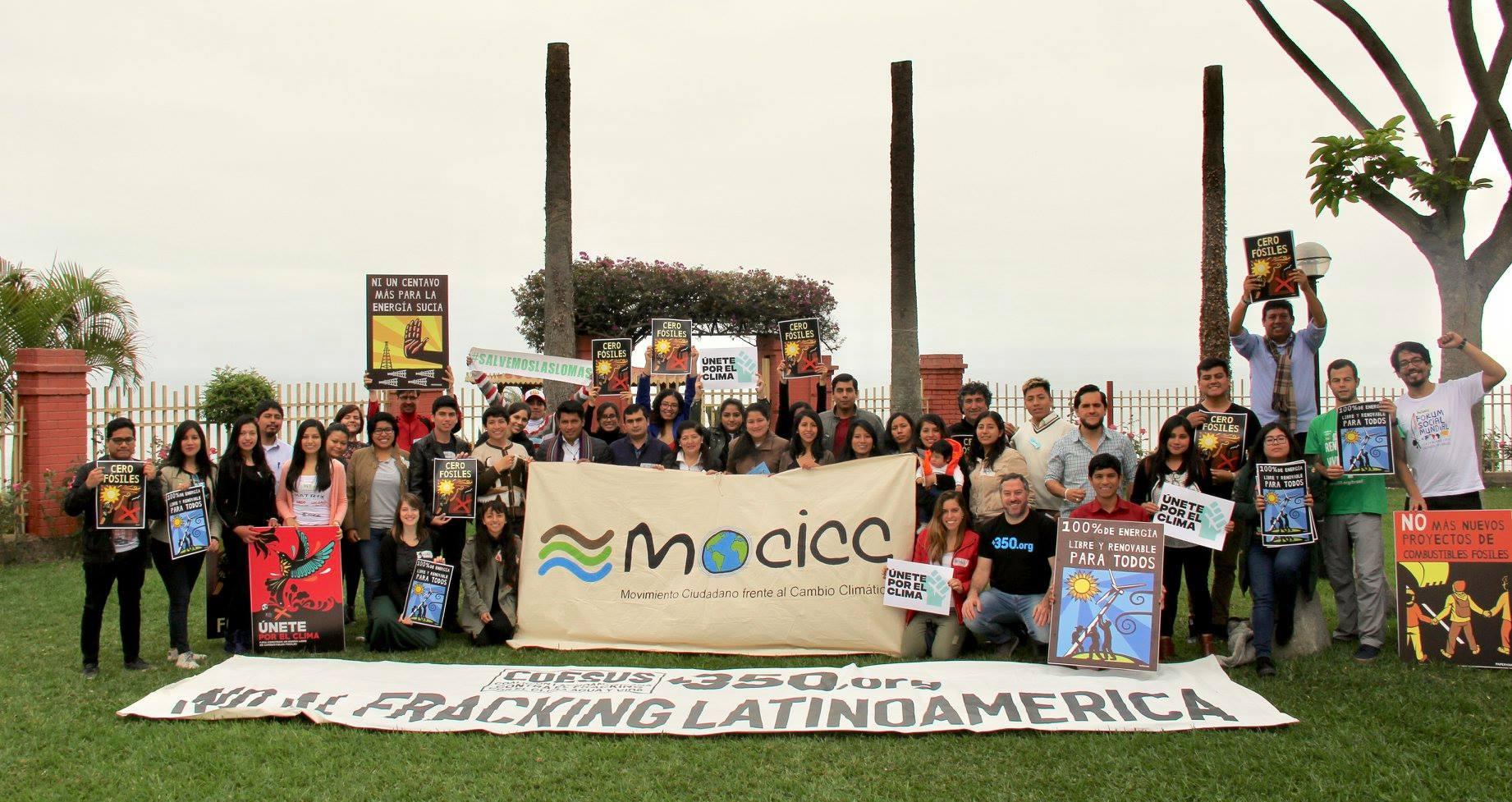 """MOCICC y 350.org realizaron encuentro preparativo """"Únete por el clima"""""""