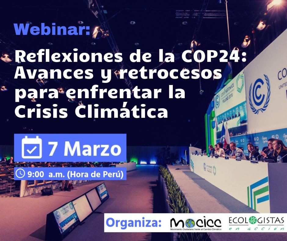 Estamos ONLINE / Webinar: avances y retrocesos para enfrentar la crisis climática