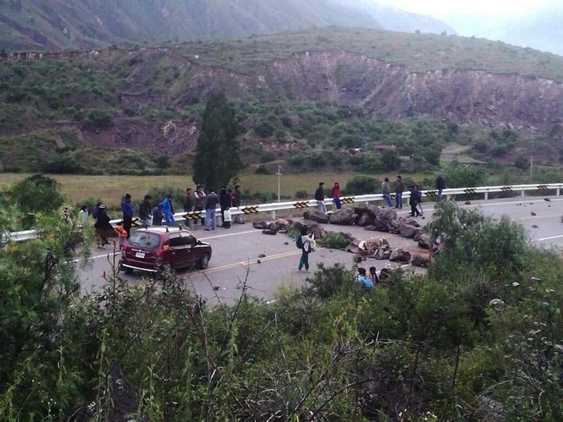 Cusco / Agricultores afectados por desastres naturales están en paro