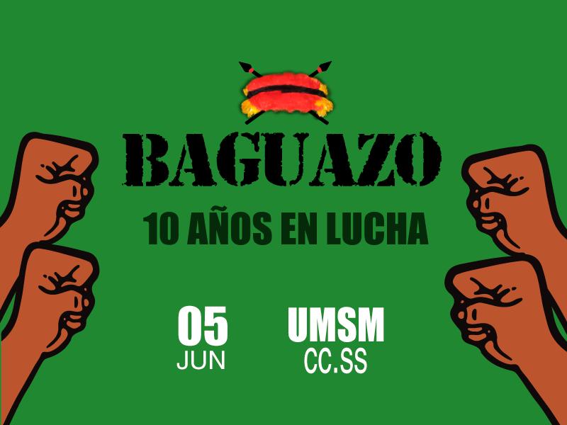 Se realizará conversatorio Baguazo: 10 años en lucha