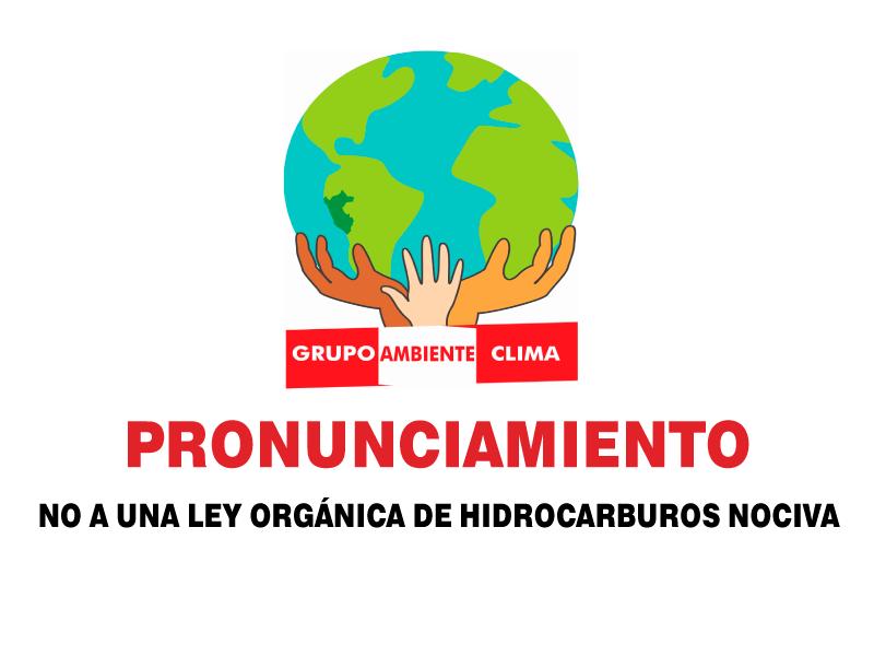 Pronunciamiento: ¡NO A UNA LEY ORGÁNICA DE HIDROCARBUROS NOCIVA Y ATENTATORIA CON EL MEDIO AMBIENTE Y LOS PUEBLOS!