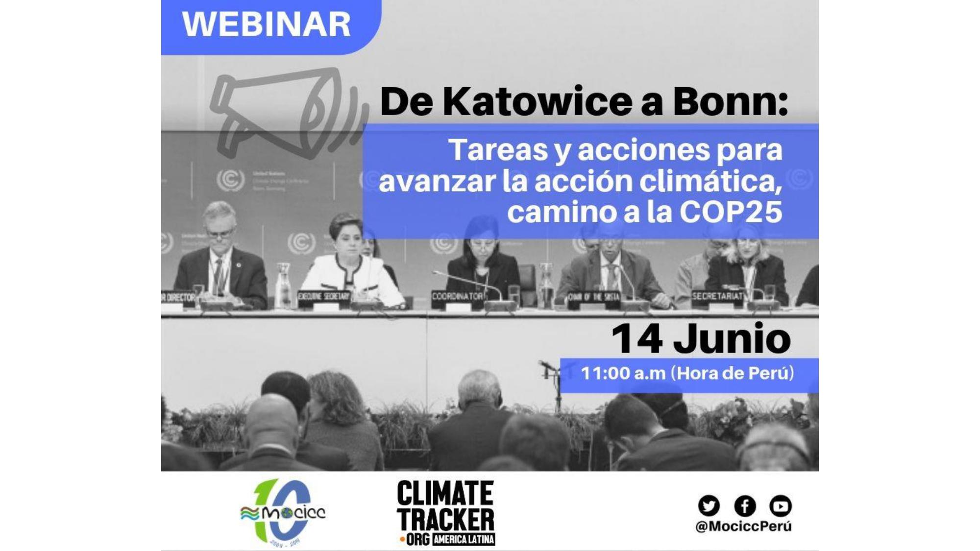 Katowice a Bonn: Tareas y acciones para la acción climática camino a la COP25