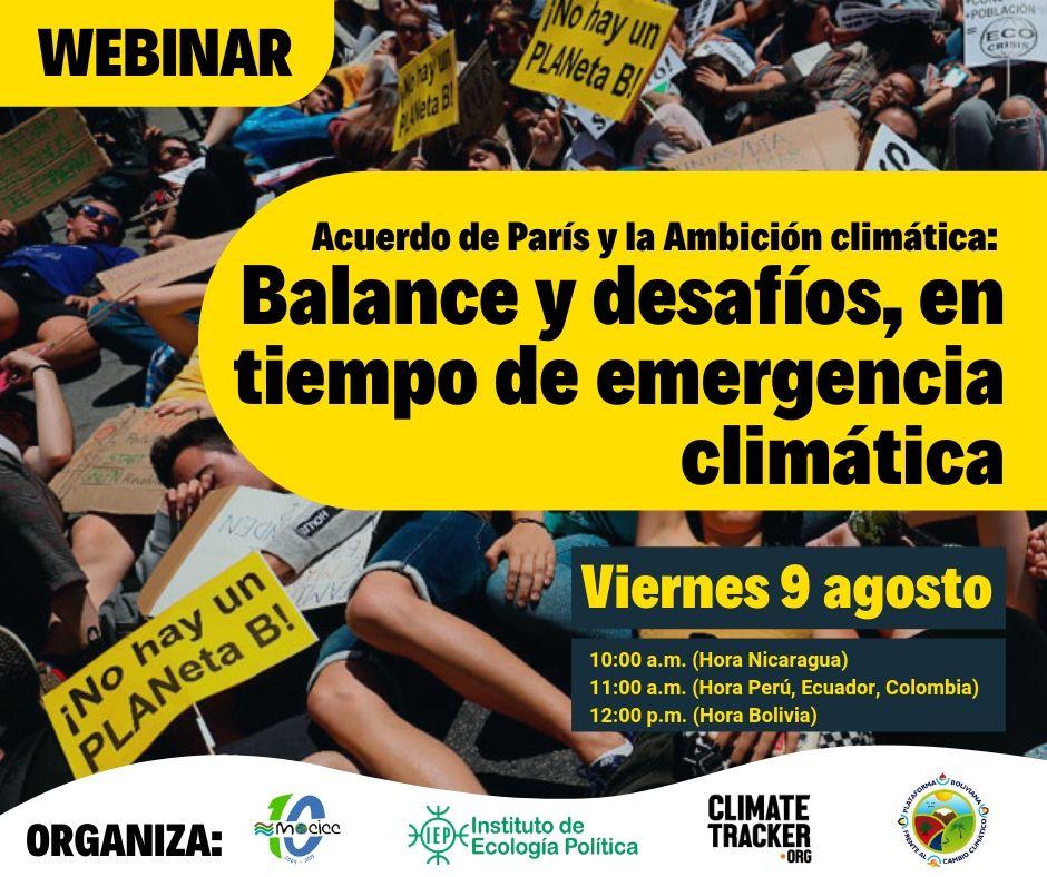 Acuerdo de París y la Ambición climática: Balance y desafíos, en tiempo de emergencia climática