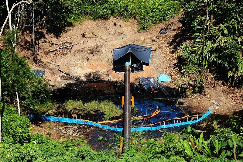 Petroperú lleva un mes sin  remediar derrame petrolero en  Amazonas (FOTOS)