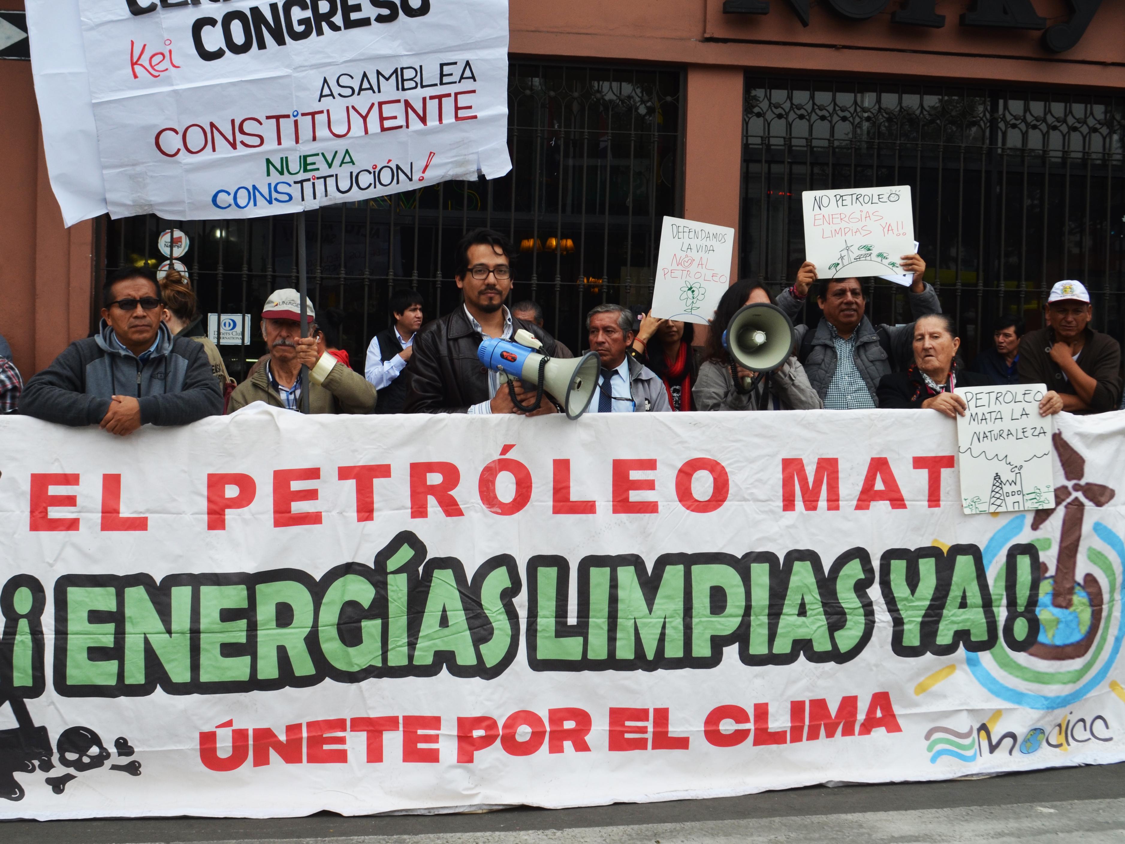 Llamado mundial por una política libre de fósiles