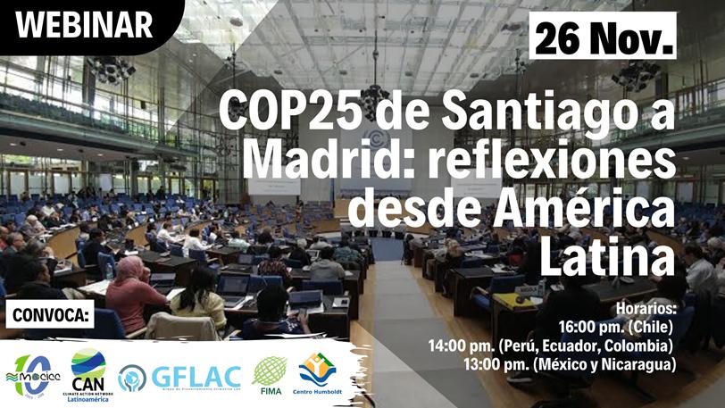 COP25 de Santiago a Madrid: reflexiones desde América Latina