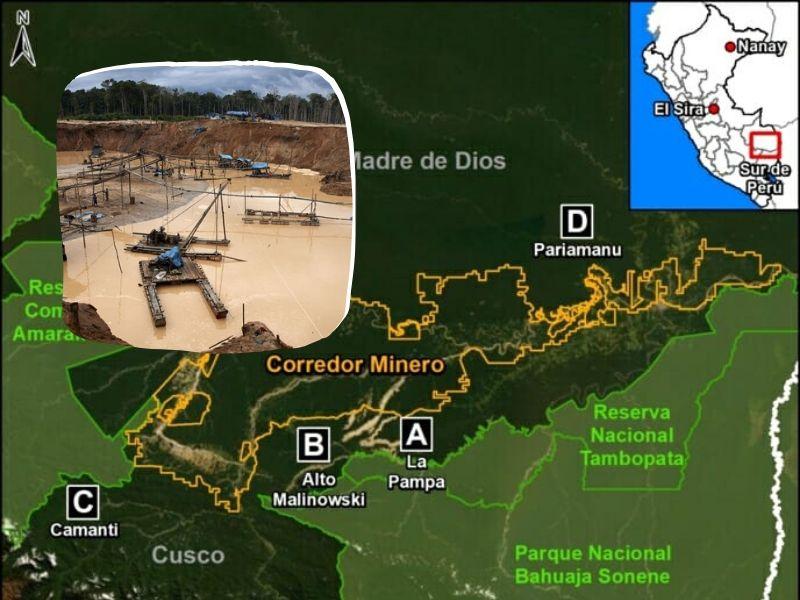 Deforestación por minería sigue castigando Madre de Dios, Cusco y Huánuco