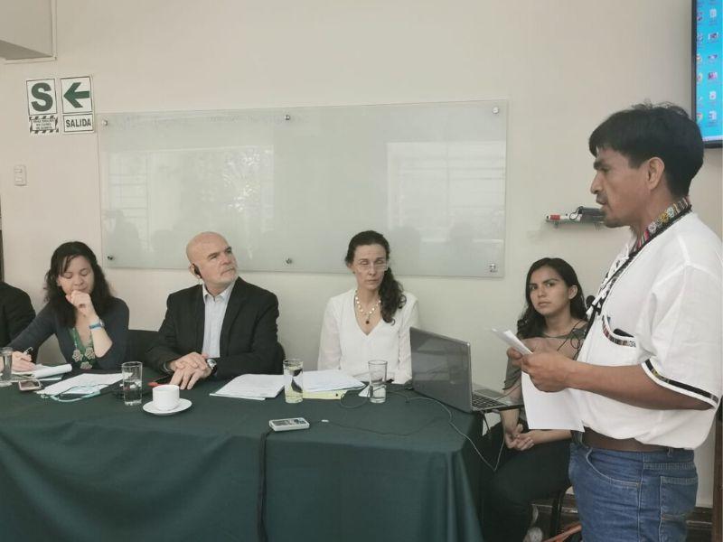 Líderes indígenas presentan casos de criminalización ante relator de la ONU