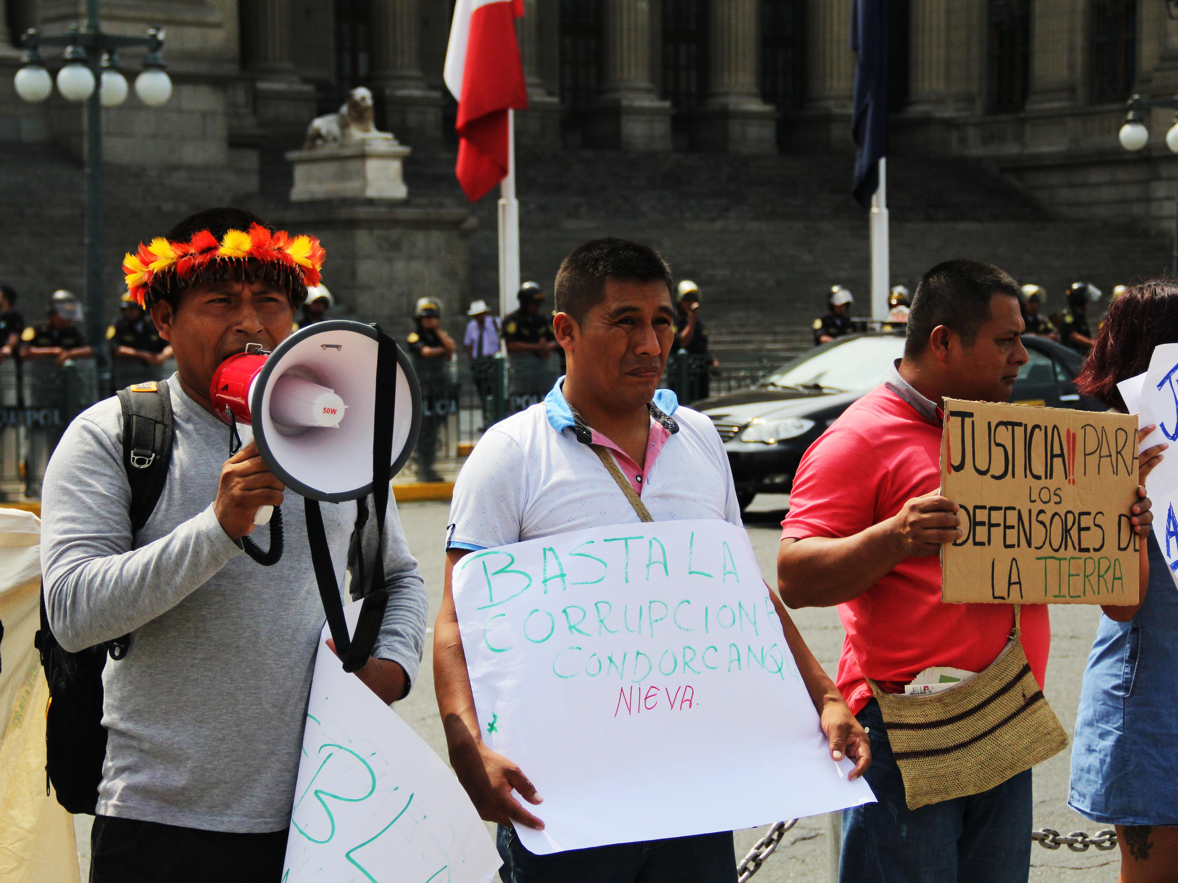 Ciudadanos exigen justicia por criminalización de defensores ambientales awajún
