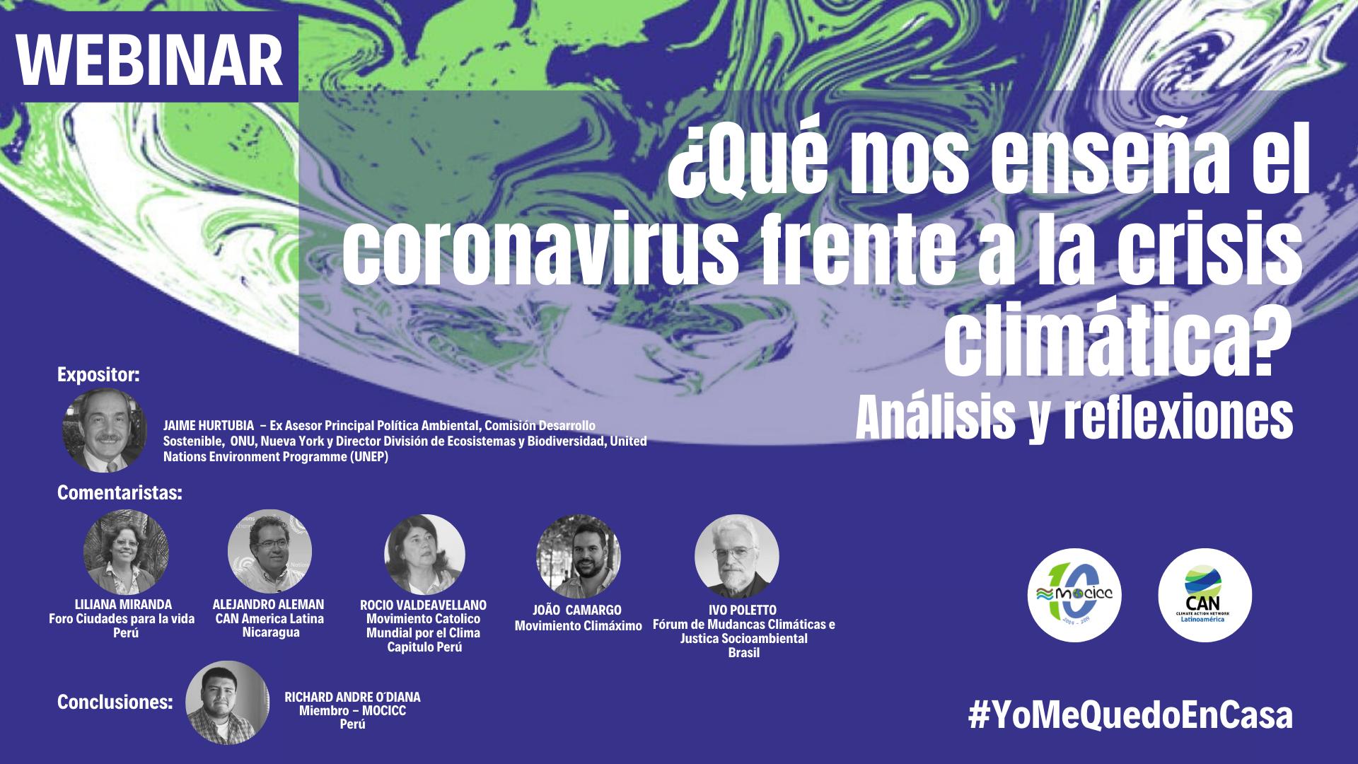 Artículo: ¿Qué nos enseña el Coronavirus frente a la crisis climática?