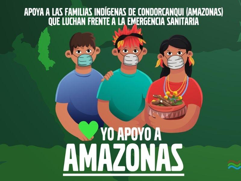 """¡URGENTE! Apoyemos a las familias indígenas de Condorcanqui con la campaña """"Yo apoyo a Amazonas ❤"""""""